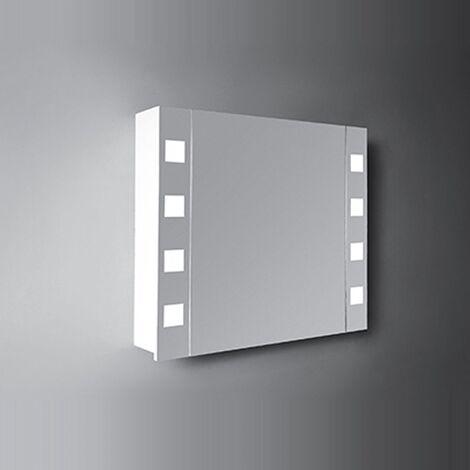 Verona Designer Cube 1-Door Mirrored Bathroom Cabinet 600mm Wide