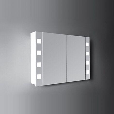 Verona Designer Cube 2-Door Mirrored Bathroom Cabinet 1000mm Wide