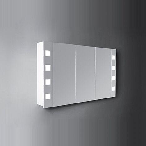 Verona Designer Cube 3-Door Mirrored Bathroom Cabinet 1200mm Wide