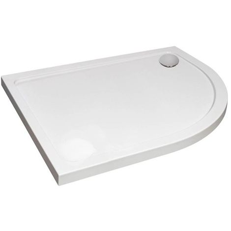 Verona Designer Offset Quadrant Shower Tray 1200mm x 800mm - Right Handed