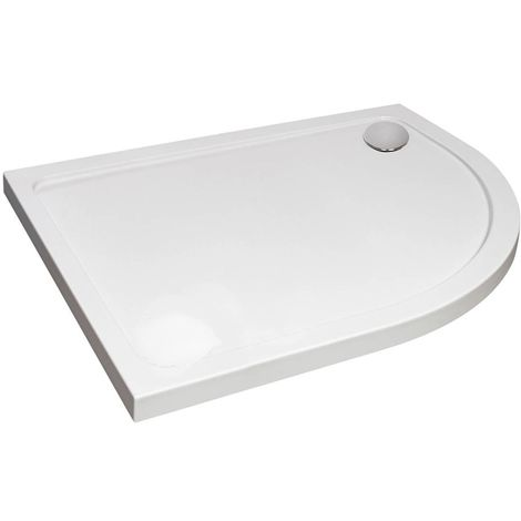 Verona Designer Offset Quadrant Shower Tray 1200mm x 900mm - Right Handed