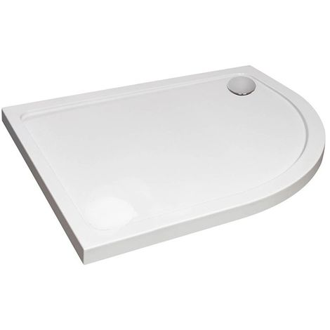 Verona Designer Offset Quadrant Shower Tray 900mm x 760mm - Right Handed
