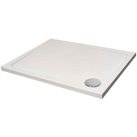 Verona Designer Rectangular Shower Tray 1100mm x 760mm - Flat Top