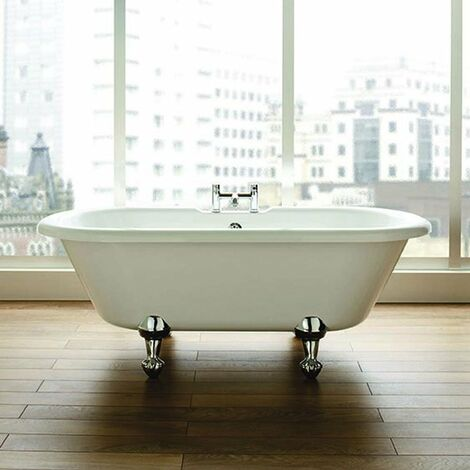 Verona Double Ended Freestanding Bath with Ball and Claw Feet 1700mm x 750mm