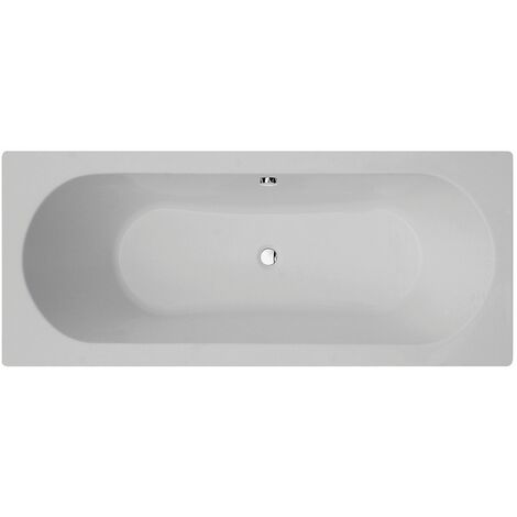 Verona Duo Rectangular Double Ended Bath 1700mm x 700mm Tungstenite - 0 Tap Hole