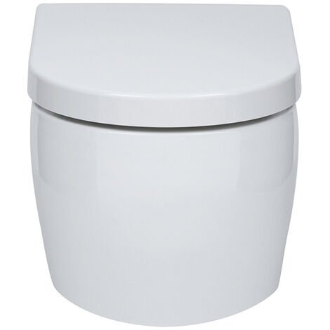 """main image of """"Verona Emme Wall Hung Toilet 530mm Projection - Soft Close Seat"""""""