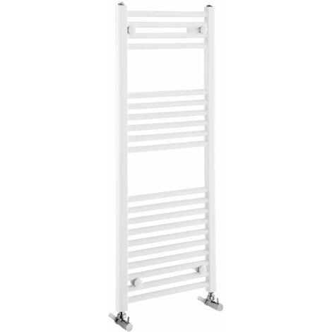 Verona Flat Designer Heated Towel Rail 1100mm H x 450mm W White