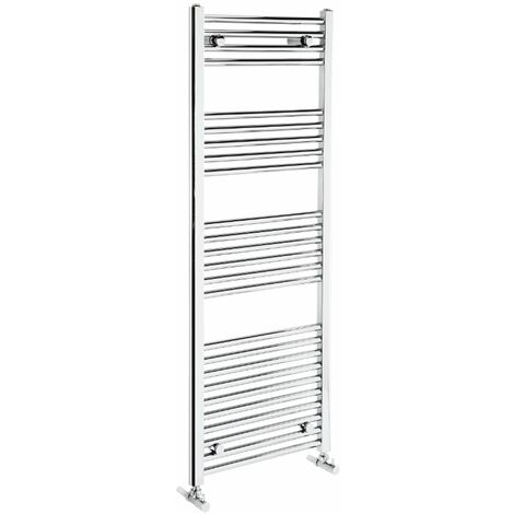 Verona Flat Designer Heated Towel Rail 1350mm H x 500mm W Chrome