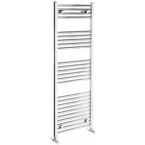 Verona Flat Designer Heated Towel Rail 1350mm H x 600mm W Chrome