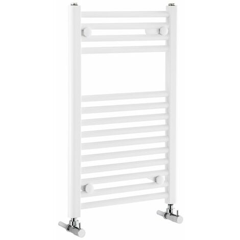 Verona Flat Designer Heated Towel Rail 700mm H x 450mm W White