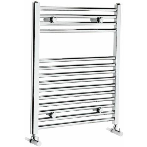 Verona Flat Designer Heated Towel Rail 700mm H x 600mm W Chrome