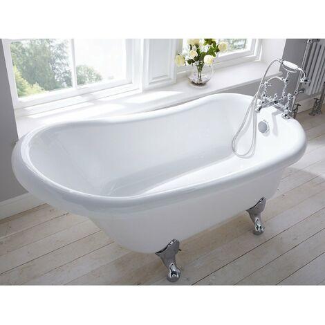 Verona Freestanding Slipper Bath with Ball and Claw Feet 1500mm x 750mm