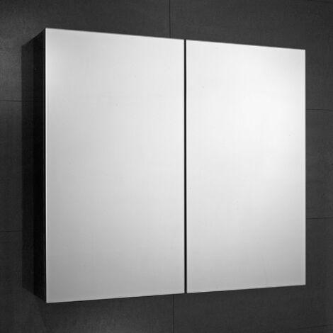 Verona Fulford 2-Door Mirrored Bathroom Cabinet 600mm Wide - Stainless Steel