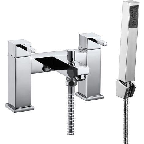 Verona Ixos Bath Shower Mixer Tap with Shower Handset - Chrome