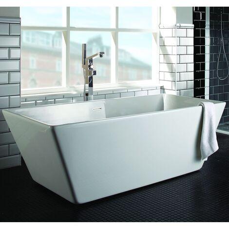 Verona Kubix Freestanding Double Ended Bath 1700mm x 800mm - White