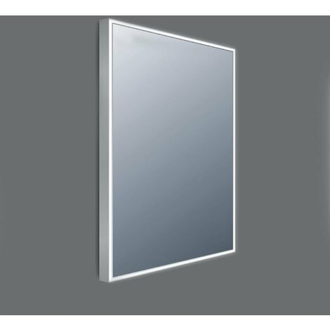 Verona Line LED Bathroom Mirror 800mm H x 600mm W with Touch Sensor and Demister