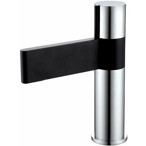 Verona Line Mono Basin Mixer Tap with Sprung Waste - Black and Chrome