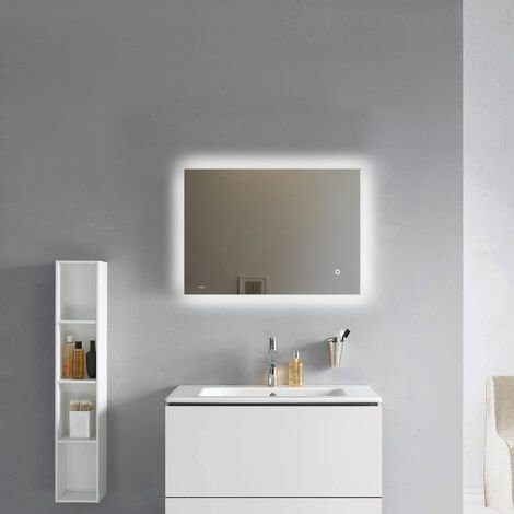 Verona Lumiere LED Bathroom Mirror with Touch Sensor and Demister 500mm H x 700mm W