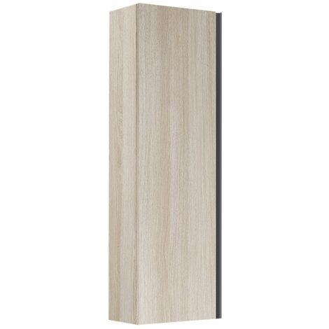 Verona Mode Wall Hung 1-Door Tall Unit 345mm Wide - Light Oak