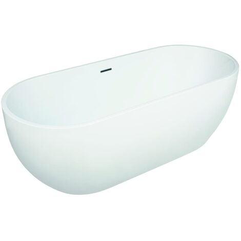 Verona Modern Freestanding Double Ended Bath 1650mm x 700mm - White