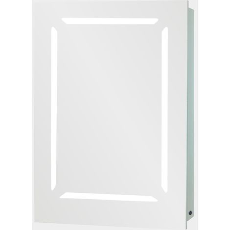 Verona Monaco 1-Door Mirrored Bathroom Cabinet 500mm Wide with LED Light and Shaver Socket