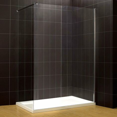 Verona Octo Wet Room Glass Panel 800mm Wide 8mm Glass