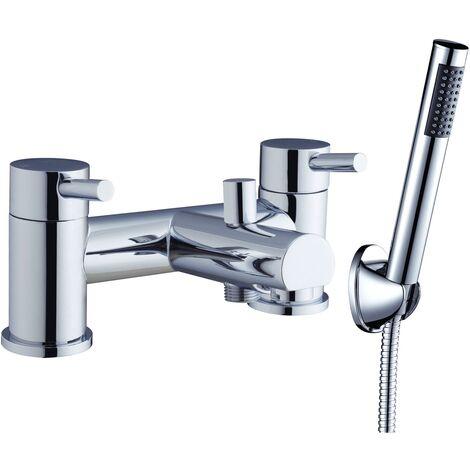 Verona Outline Bath Shower Mixer Tap Pillar Mounted Chrome