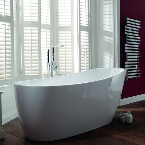 Verona Pano Freestanding Slipper Bath 1795mm x 800mm - White