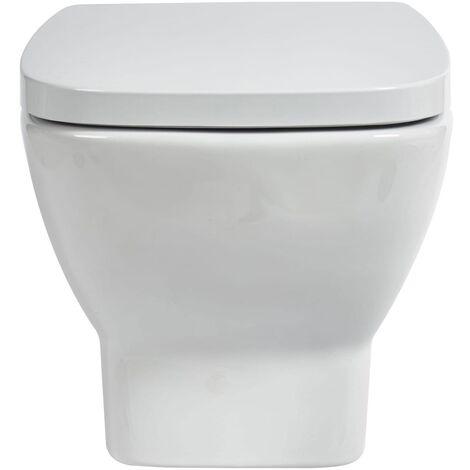 Verona Piccolo Wall Hung Toilet Pan - Soft Close Seat