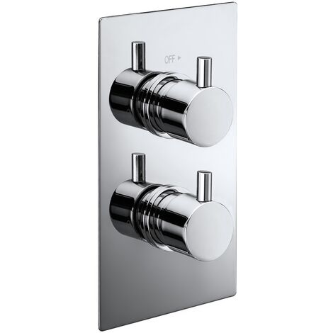 Verona Pure Concealed Thermostatic Shower Valve Dual Handle with Diverter - Chrome