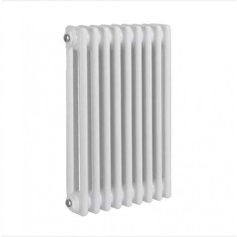 Verona Round 2 Column Traditional Radiator, 600 x 765mm, White