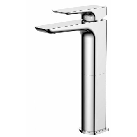 Verona Sabre Tall Basin Mixer Tap with Sprung Waste - Chrome