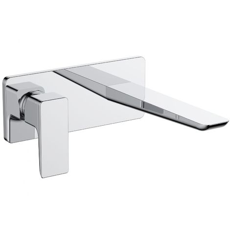 Verona Sabre Wall Mounted Basin Mixer Tap without Waste - Chrome
