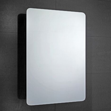 Verona Scholes 1-Door Mirrored Bathroom Cabinet 500mm Wide - Stainless Steel