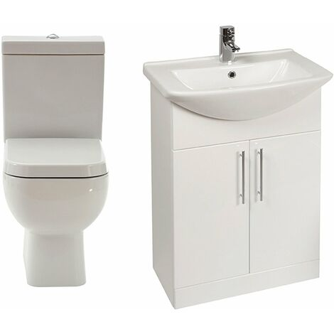 Verona Series 600 Furniture Bathroom Suite with Vanity Unit - 550mm Wide