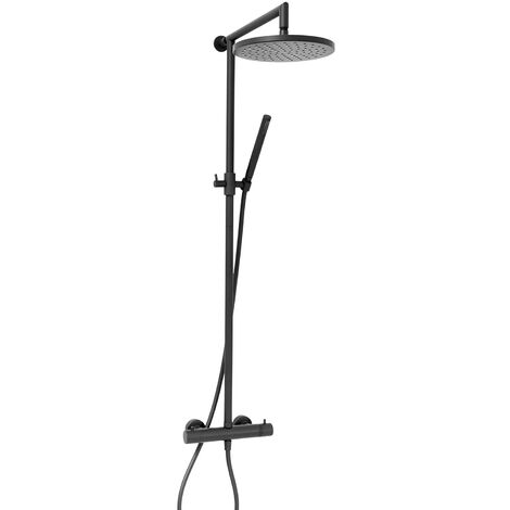 Verona Sleek Thermostatic Bar Complete Mixer Shower - Matt Black