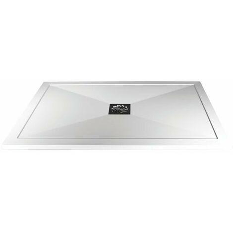 Verona Slimline Rectangular Shower Tray with Waste 1200mm x 900mm - Flat Top