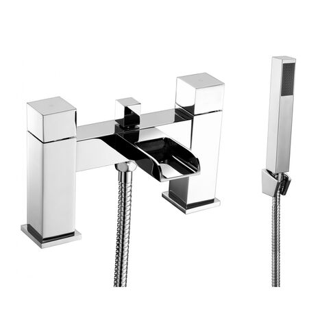 Verona Trac Waterfall Bath Shower Mixer Tap with Shower Handset - Chrome