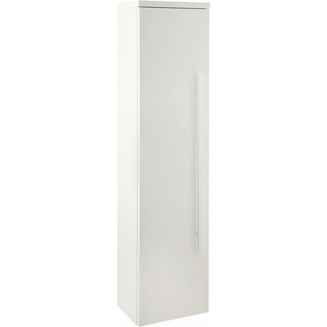 Verona Trevi Tall Side Cabinet Unit 1400mm High x 350mm Wide White