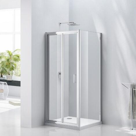 Verona Uno Bi-Fold Shower Door 760mm Wide - 6mm Glass