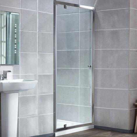 "main image of ""Verona Uno Pivot Shower Door with Tray 700mm x 700mm - 6mm Glass"""