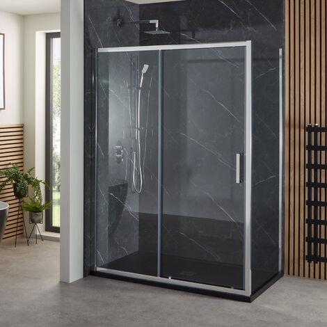"""main image of """"Verona Uno Sliding Shower Door 1100mm Wide - 6mm Glass"""""""