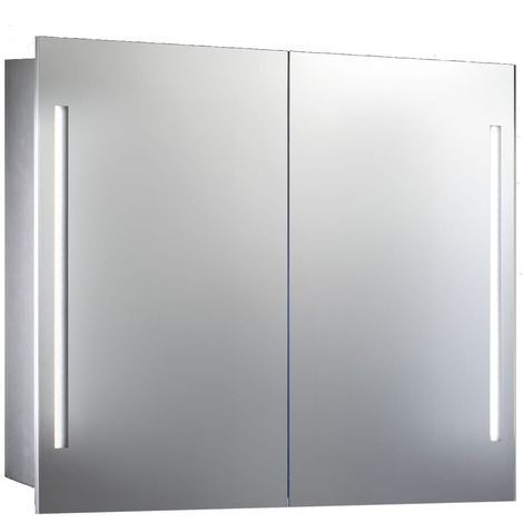Verona Valletta 2-Door Mirrored Bathroom Cabinet 800mm Wide with LED Light and Shaver Socket