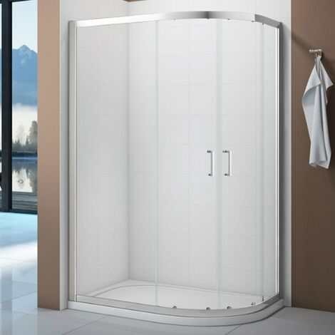 Verona Vivid Offset Quadrant Shower Enclosure 900mm x 760mm with Shower Tray Right Handed