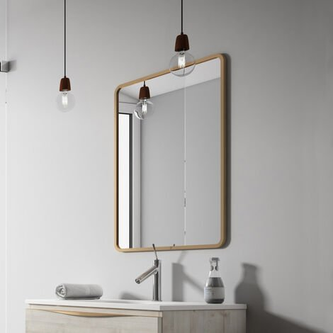 Verona Vogue Bathroom Mirror 800mm H x 600mm W - Copper
