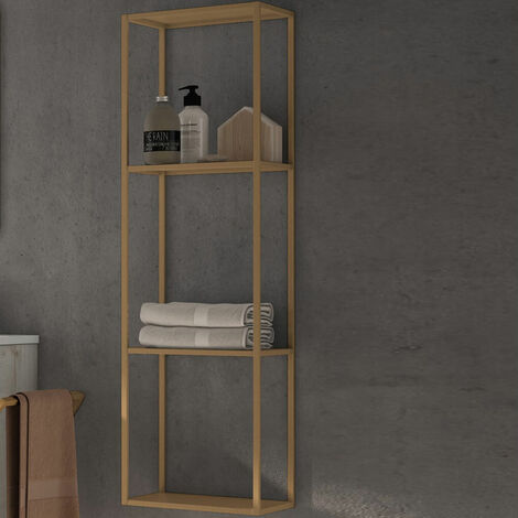 Verona Vogue Wall Hung Open Storage Shelf Unit 300mm Wide - Copper