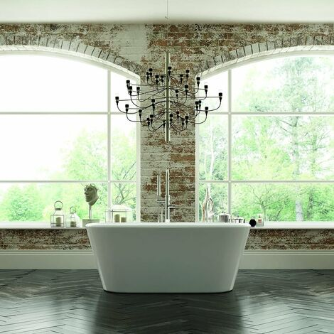 Verona Zenith Freestanding Double Ended Bath 1500mm x 700mm - White