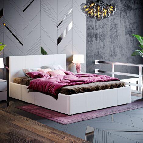 Veronica Double Ottoman Bed, Light Grey Linen