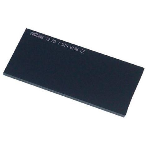 Verre fumé 105 x 50 mm teinte 11 pour masque de soudage - 20398061 - Sidamo - Noir -