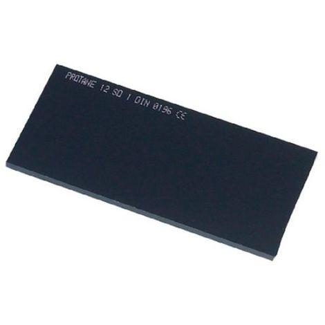 Verre fumé 105 x 50 mm teinte 12 pour masque de soudage - 20398062 - Sidamo - Noir -